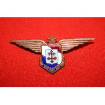 INSIGNE MÉTAL DE POITRINE DE PILOTE FAFL 1944