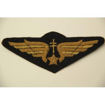 INSIGNE BRODE DE POITRINE DE PILOTE FAFL 1944