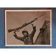 Soldat français avec son fusil