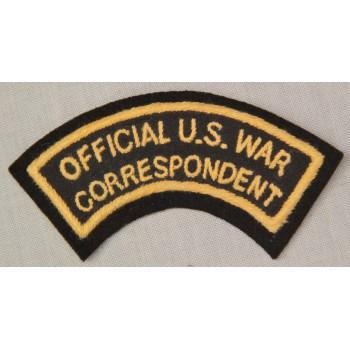 OFFICIAL U.S. WAR CORRESPONDENT US ARMY 2ème GM