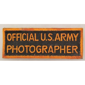 """""""OFFICIAL US ARMY PHOTOGRAPHER"""" US ARMY 2ème GM"""