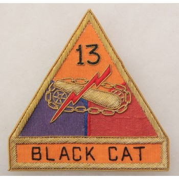 13th ARMORED DIVISION bullion made
