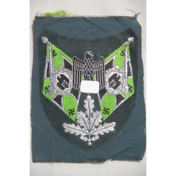 INSIGNE DE MANCHE DE PORTE-DRAPEAU DE PANZERGRENADIER WEHRMACHT HEER ORIGINAL 2ème GM. WH FLAG BEARER ARM BADGE ORIGINAL WW2