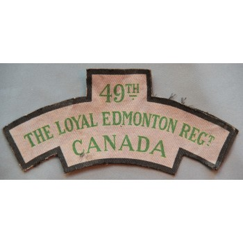 TITRE D'ÉPAULE LOYAL EDMONTON REGIMENT CANADA  2ème GM