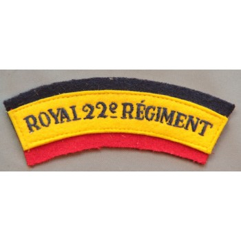 TITRE D'ÉPAULE ROYAL 22è REGIMENT CANADA  2ème GM