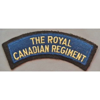 TITRE D'ÉPAULE ROYAL CANADIAN REGIMENT   2ème GM