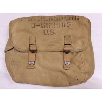 """MUSETTE M1936 """"ATLANTIC 1943"""" US 2ème GM. WW2 US ARMY MUSETTE BAG"""
