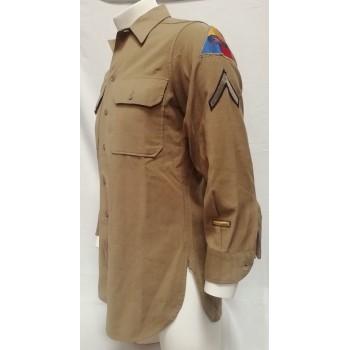 CHEMISE LAINE D'UN PFC ARMOR/5th ARMY US 2ème GM. WW2 US ARMY WOOL SHIRT