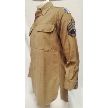 CHEMISE LAINE D'UN STAFF-SERGENT US ARMY 2ème GM. WW2 US WOOL SHIRT