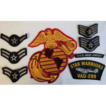 LOT DE 8 INSIGNES US AIR FORCE MARINES