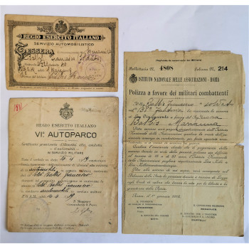 LOT DE DOCUMENTS SOLDAT ITALIEN GRANDE GUERRE 1914-1918
