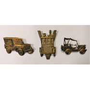 LOT DE 3 INSIGNES JEEP...