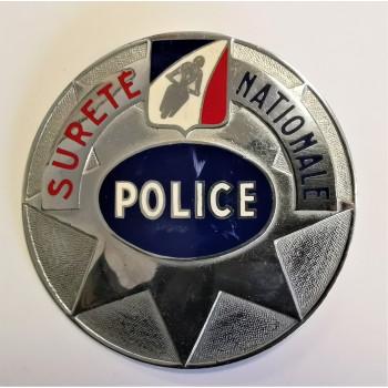 PLAQUE POLICE MOTARD DE LA SURETE NATIONALE