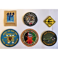 LOT DE 6 PATCHES US ET...