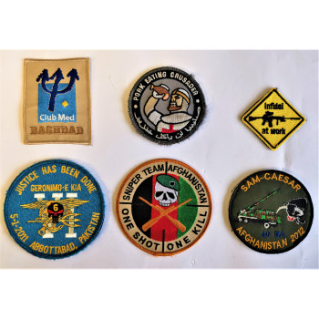 LOT DE 6 PATCHES US ET FRANCAIS EN AFGHANISTAN IRAK PAKISTAN OPEX