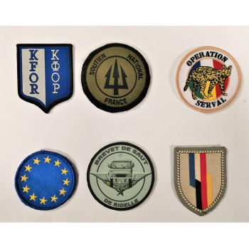 LOT DE PATCHES ARMEE FRANCAISE OPERATION SERVAL KFOR OPEX