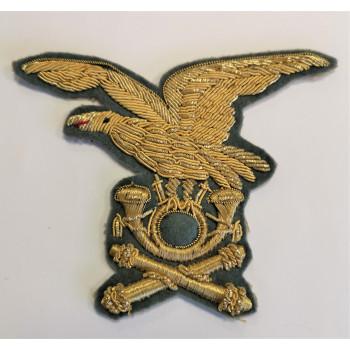 INSIGNE DE COIFFURE D'OFFICIER ITALIEN ARTILLERIE ALPINE 1939-1945 ALPINI REGIO ESERCITO