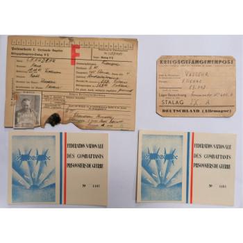 LOT DE DOCUMENTS PRISONNIERS DE GUERRE STALAG PG 1940-1945