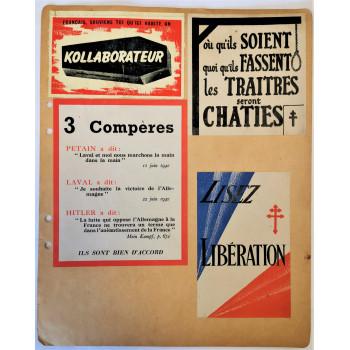 LOT DE 5 TRACTS DE LA RESISTANCE FRANCE LIBRE 1940-1944