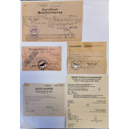 LOT DE 5 DOCUMENTS...