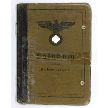 SOLDBUCH OBERGEFREITER 8.Pz.Art.Rgt. 13. WEHRMACHT 1939-1945