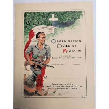 DIPLOME RESISTANCE FFI OCM LIBERATION 1944-1945