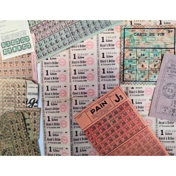 LOT DE TICKETS DE RATIONNEMENT OCCUPATION 1940-1945